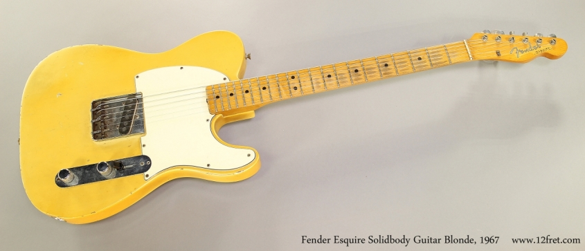 Fender Esquire Solidbody Guitar Blonde, 1967  Full Front View