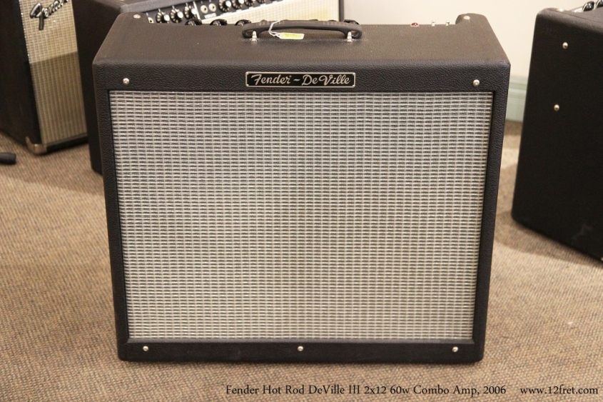 Fender Hot Rod DeVille III 2x12 60w Combo Amp, 2006 Full Front View