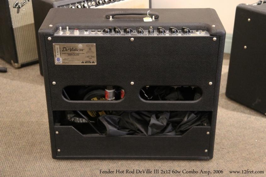 Fender Hot Rod DeVille III 2x12 60w Combo Amp, 2006 Full Rear View