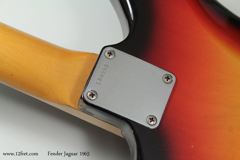 Fender Jaguar 1965 neckplate