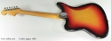 Fender Jaguar 1965 full rear view