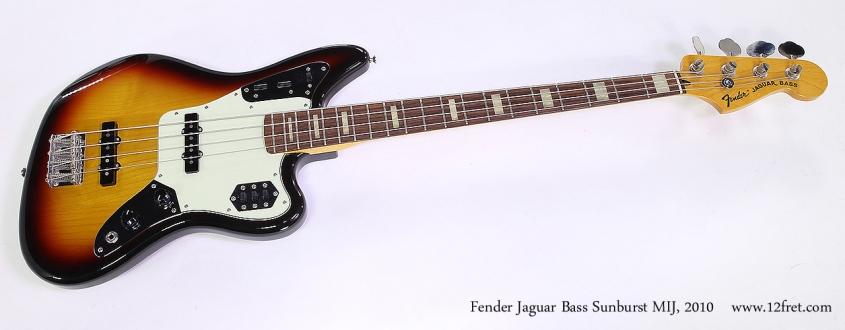 Fender Jaguar Bass Sunburst MIJ, 2010 Full Front View