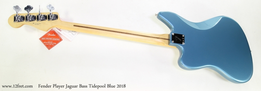 Fender Player Jaguar Bass Tidepool Blue 2018   Full Rear View