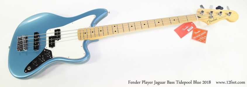 Fender Player Jaguar Bass Tidepool Blue 2018   Full Front VIew