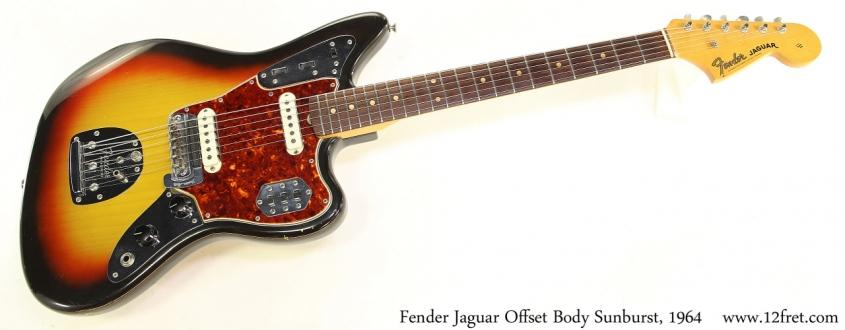 Fender Jaguar Offset Body Sunburst, 1964 Full Front View