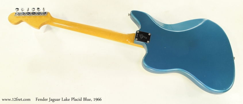 Fender Jaguar Lake Placid Blue, 1966 Full Rear VIew
