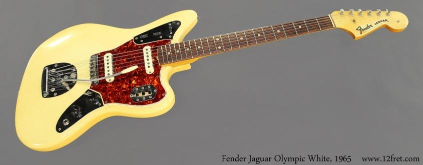 Fender Jaguar Olympic White, 1965 Full Front View