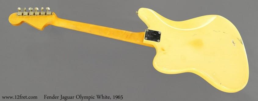 Fender Jaguar Olympic White, 1965 Full Rear View