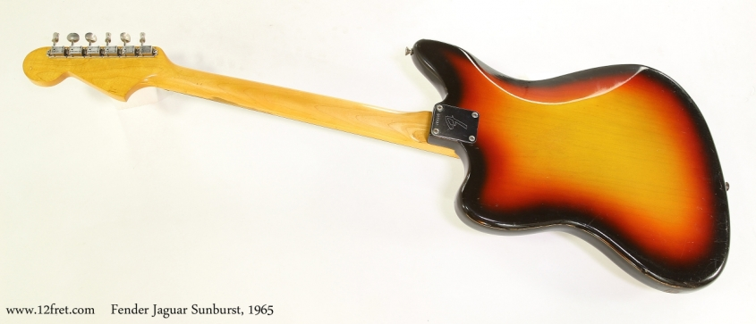 Fender Jaguar Sunburst, 1965  Full Rear View