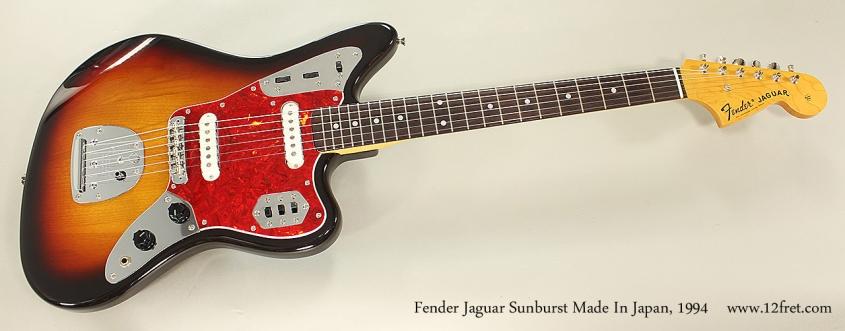Fender Jaguar Sunburst Made In Japan, 1994 Full Front View