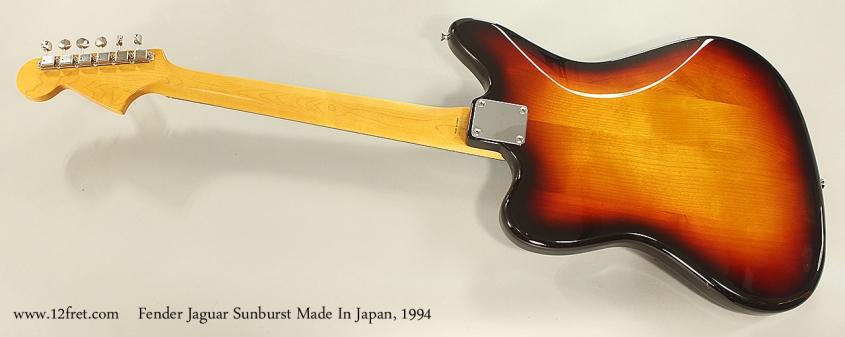 Fender Jaguar Sunburst Made In Japan, 1994 Full Rear View