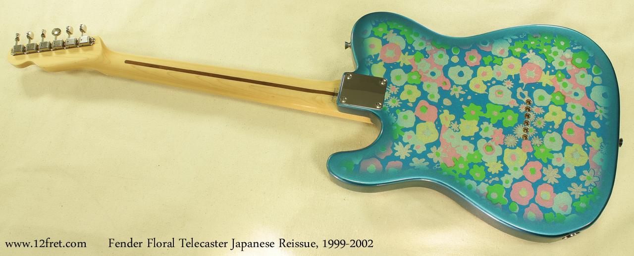 Fender Japan Telecaster Floral 1999 - 2002 full rear view