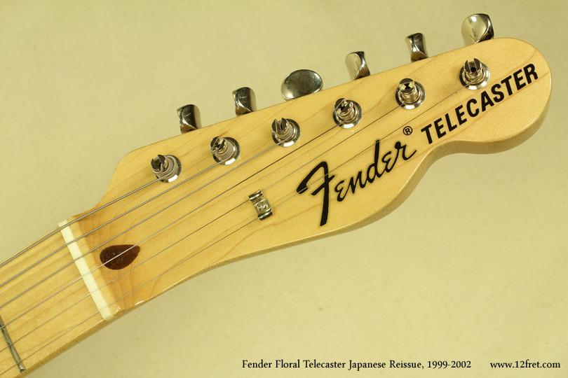 Fender Japan Telecaster Floral 1999 - 2002 head front