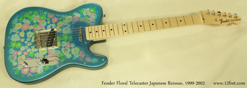 Fender Japan Telecaster Floral 1999 - 2002 full front view