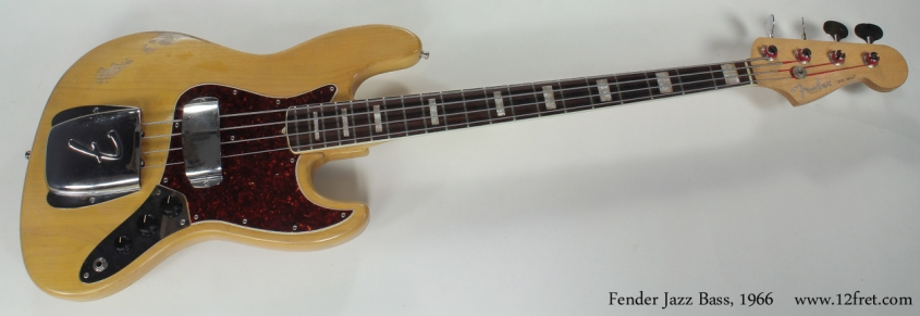 Fender Jazz Bass 1966 full front view