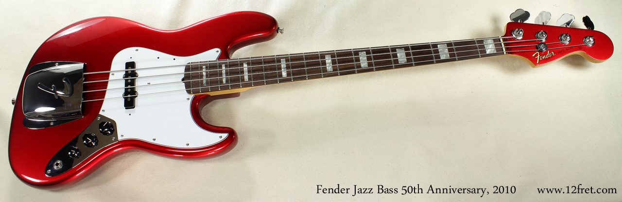 Fender Jazz Bass 50th Anniversary 2010 full front view