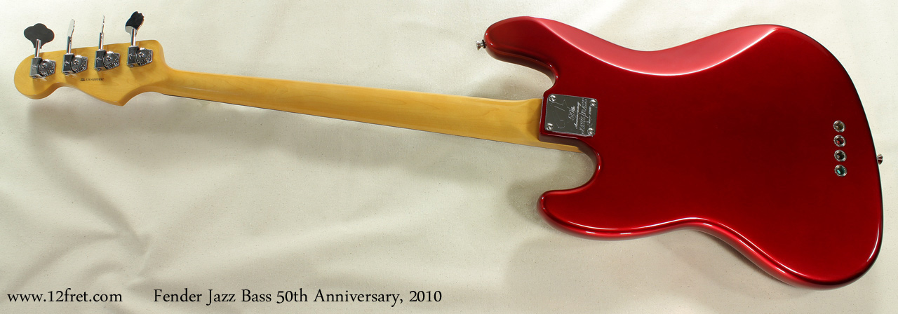 Fender Jazz Bass 50th Anniversary 2010 full rear view