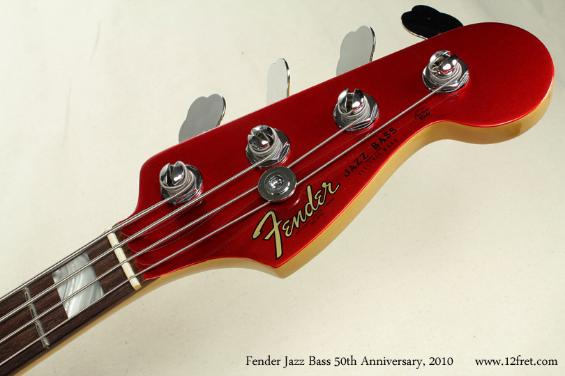Fender Jazz Bass 50th Anniversary 2010 head front view