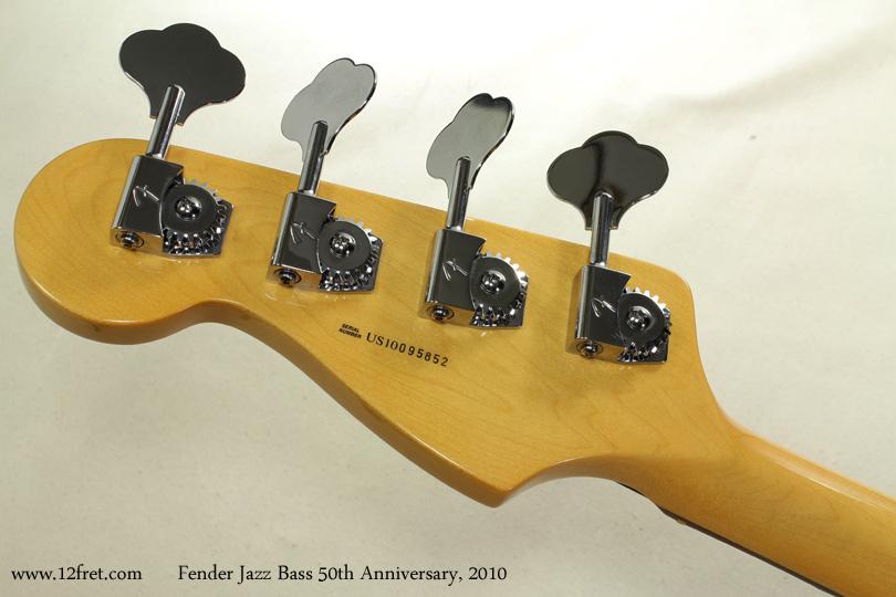 Fender Jazz Bass 50th Anniversary 2010 head rear view
