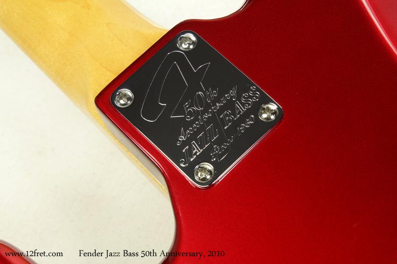 Fender Jazz Bass 50th Anniversary 2010 neckplate