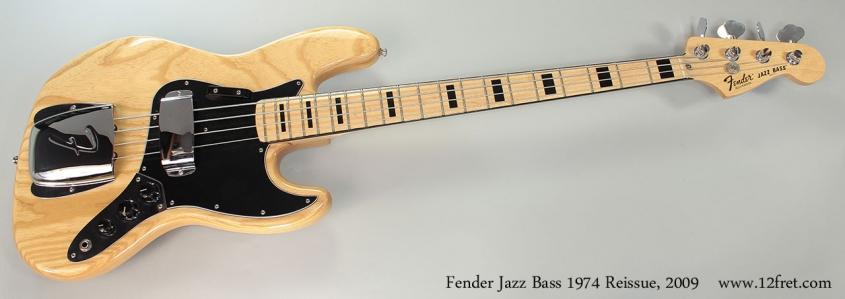Fender Jazz Bass 1974 Reissue, 2009 Full Front View