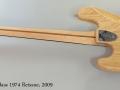 Fender Jazz Bass 1974 Reissue, 2009 Full Rear View