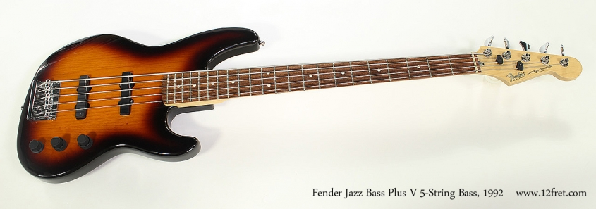 Fender Jazz Bass Plus V 5-String Bass, 1992 Full Front View