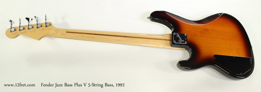Fender Jazz Bass Plus V 5-String Bass, 1992 Full Rear View