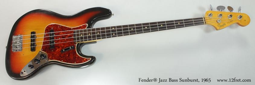 Fender® Jazz Bass Sunburst, 1965 Full Front View