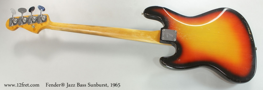 Fender® Jazz Bass Sunburst, 1965 Full Rear View