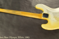 Fender Jazz Bass Olympic White, 1965 Full Rear View