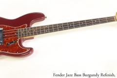 Fender Jazz Bass Burgundy Refinish, 1962 Full Front View