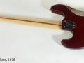 Fender Jazz Bass 1978 full rear view