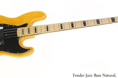 Fender Jazz Bass Natural, 1973 Full Front View