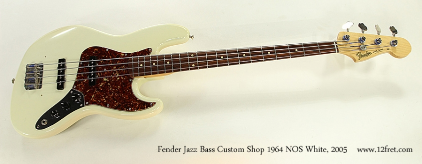Fender Jazz Bass Custom Shop 1964 NOS White, 2005 Full Front View