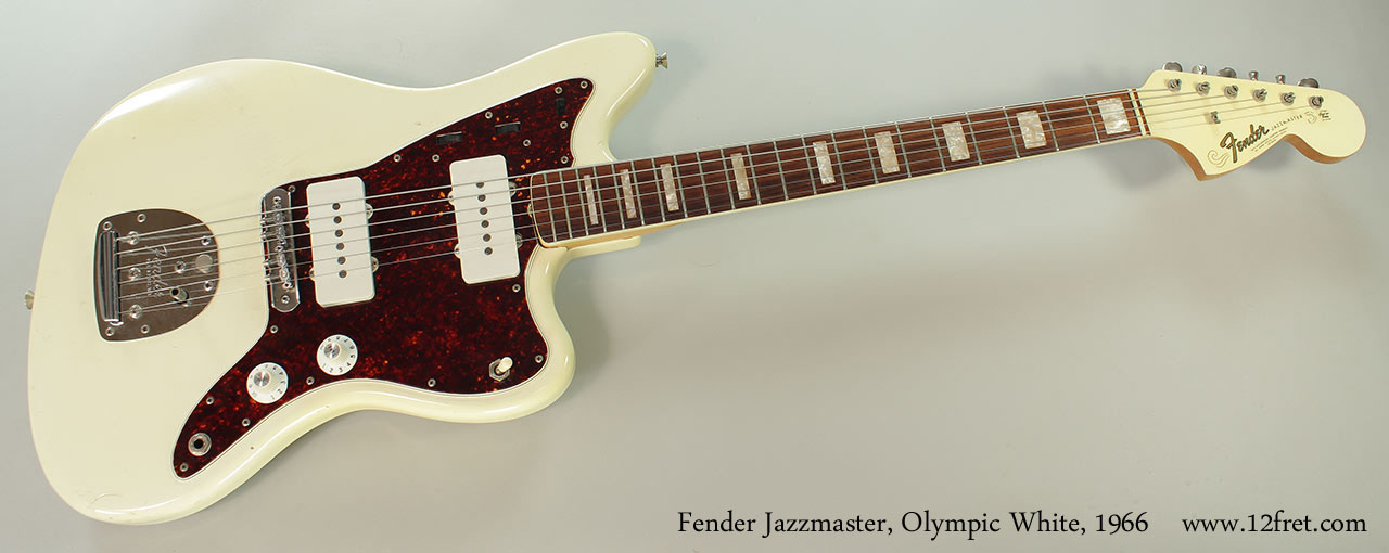 Fender Jazzmaster, Olympic White, 1966 Full Front View