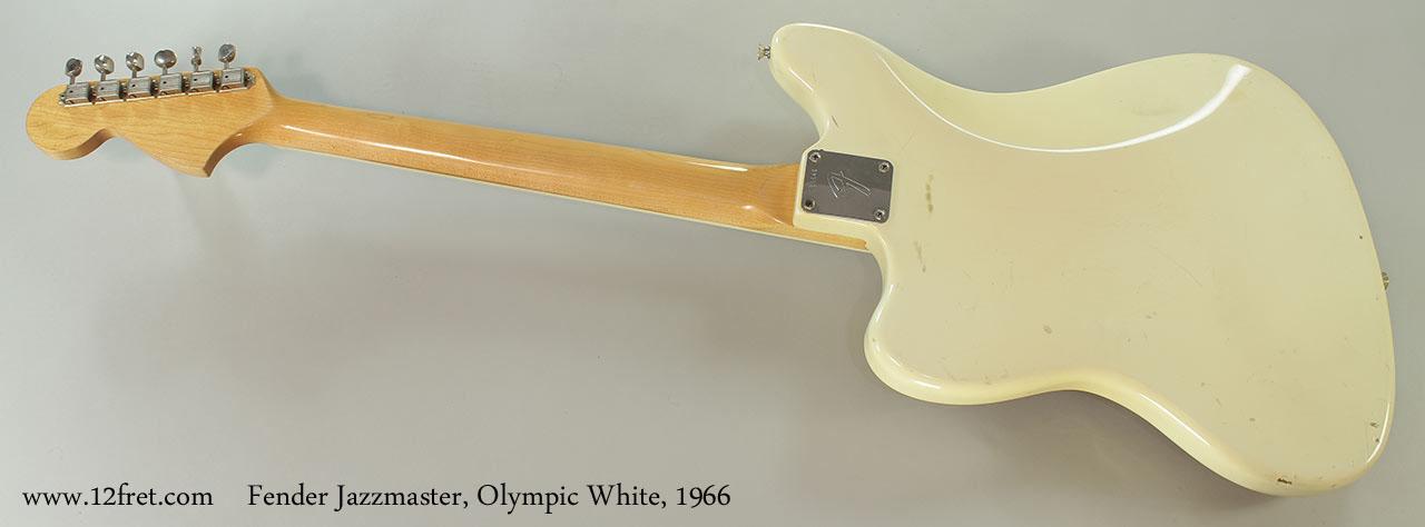 Fender Jazzmaster, Olympic White, 1966 Full Rear View
