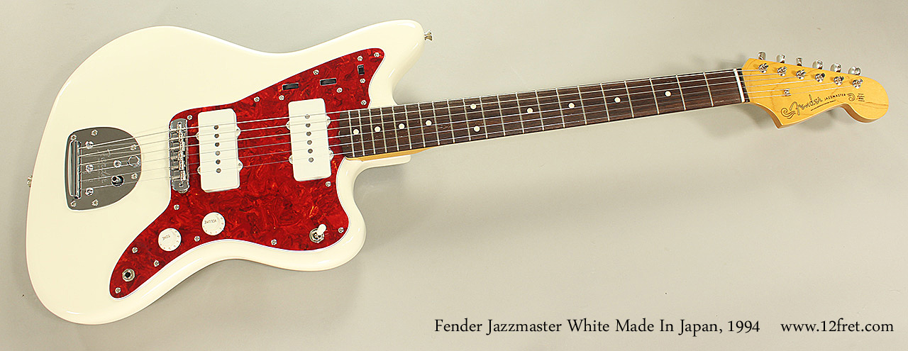 Fender Jazzmaster White Made In Japan, 1994 Full Front View