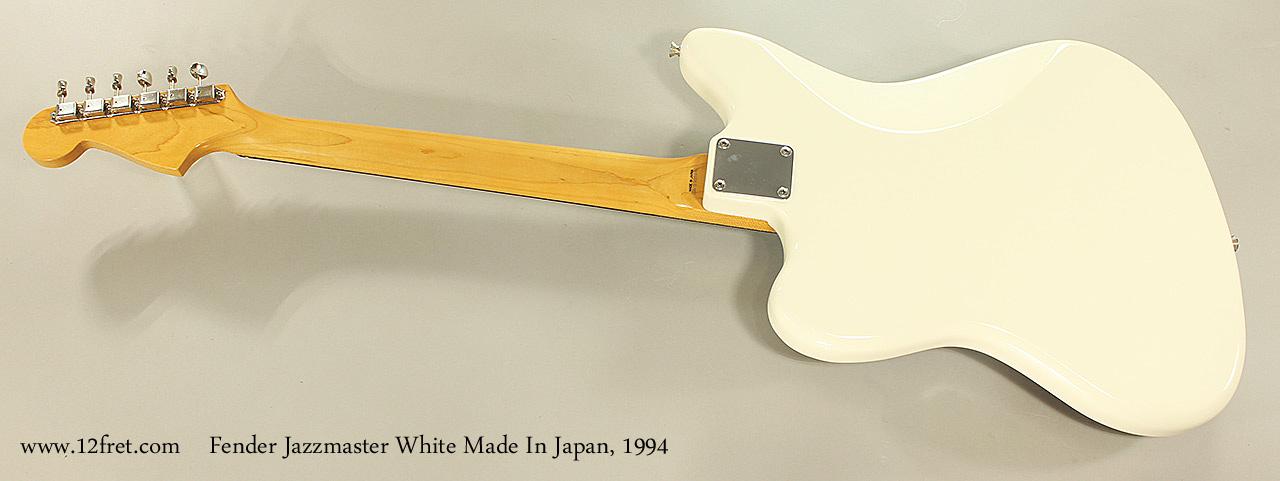 Fender Jazzmaster White Made In Japan, 1994 Full Rear View