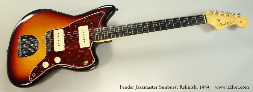 Fender Jazzmaster Sunburst Refinish, 1959 Full Front View