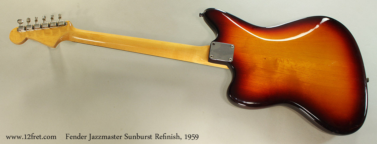 Fender Jazzmaster Sunburst Refinish, 1959 Full Rear View