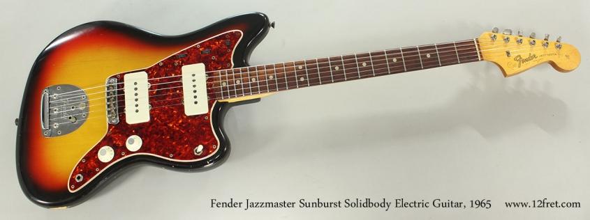 Fender Jazzmaster Sunburst Solidbody Electric Guitar, 1965 Full Front View