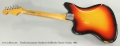 Fender Jazzmaster Sunburst Solidbody Electric Guitar, 1965 Full Rear View
