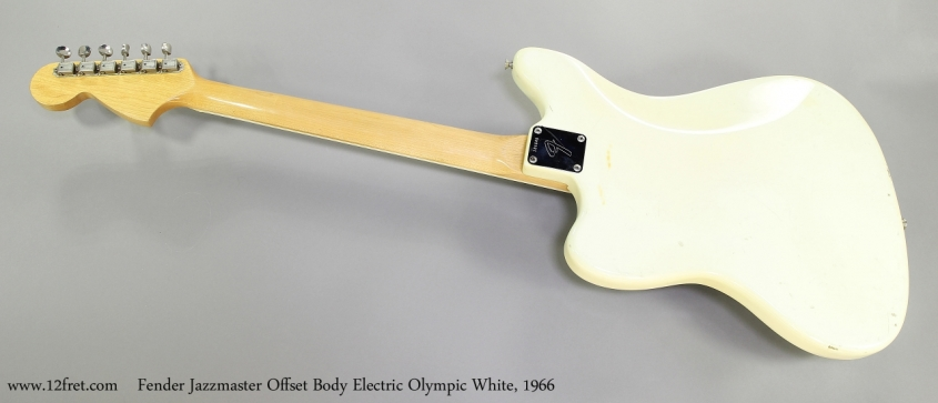 Fender Jazzmaster Offset Body Electric Olympic White, 1966   Full Rear View