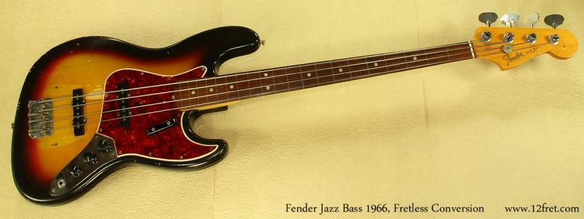 Fender Jazz Bass 1966 Fretless Conversion full front