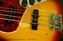 fFender Jazz Bass 1966 Fretless Conversion top detail