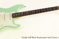 Fender Jeff Beck Stratocaster Surf Green, 2009 Full Front View