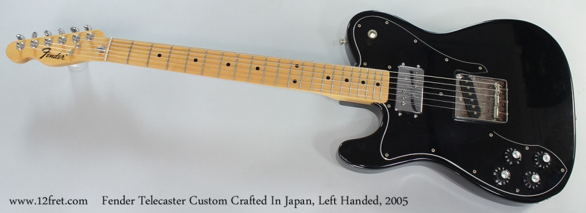 Fender Telecaster Custom Crafted In Japan, Left Handed, 2005 Full Front View