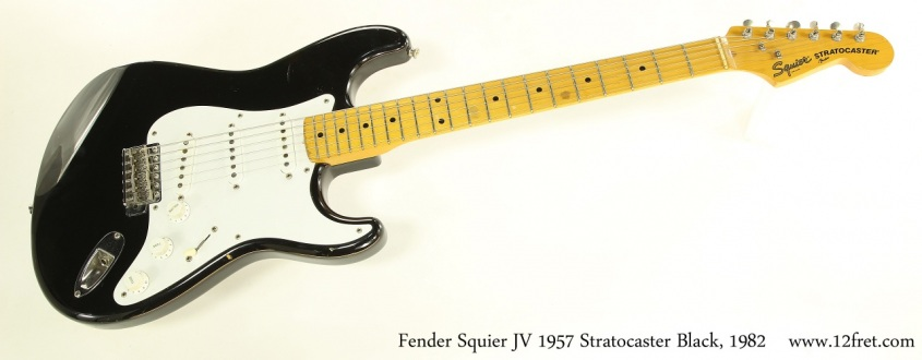 Fender Squier JV 1957 Stratocaster Black, 1982 Full Front View