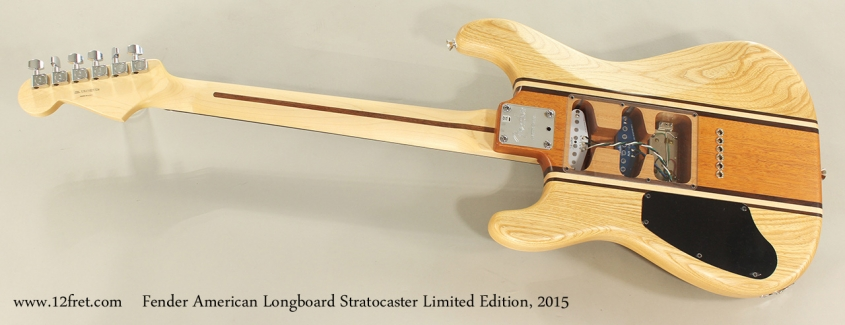 Fender American Longboard Stratocaster Limited Edition, 2015 Full Rear View